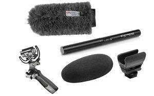 Sennheiser MKE600 Shotgun Mic Kit w/ Rycote Softie & Pistol Grip Shock Mount