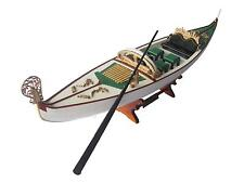 "Venetian Gondola Italian Rowing Boat Assembled 23"" - Built Handmade Wooden Model"