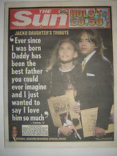 """MICHAEL JACKSON - """"The Sun"""" - 8th July 2009 - The Memorial Concert - 13 pages"""