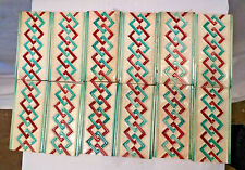 Antique Tile Strip Ceramic Porcelain Wankaner Pottery Geometric Design Rare # 6*