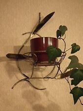Flower wall hanging - rustic, metal
