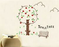 Apple Tree Home Decor Removable Wall Stickers Decals Decoration Vinyl Mural*