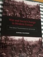 War And Social Change In Modern Europe. (The Great Transformation Revisited)