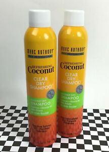 2 Marc Anthony Professional Hair Refreshing Coconut Clear Dry Shampoo Spray 7oz