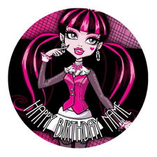 Monster High Personalised Edible Party Cake Decoration Topper Round Image
