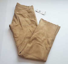 POLO JEANS CO Ralph Lauren Womens Size 6 Chamois Leather Brown Beige Pants $250