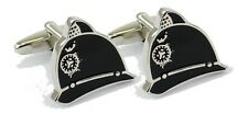 Police Helmet Novelty Cufflinks  in Gift Tin   NEW  22416