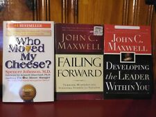 LEADERSHIP/PERSONAL DEVELOPMENT BOOK LOT: JOHN MAXWELL & SPENCER JOHNSON