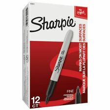 12 X Sharpie 30001 Fine Point Permanent Black Bullet Tip Markers 71e005
