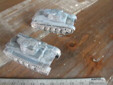 2 X PANZER  /WW2 /SCW  /MAQUETTE MONTEE PEINTE 1/72 KIT RESIN BUILT PAINTED #04