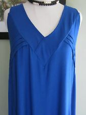 Body Fit by Afra Blue Blaze V Neck Tunic Dress Size S