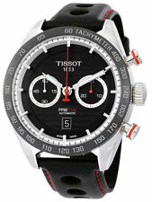 Tissot PRS 516 Chronograph Leather Automatic Men Watch T1004271605100 New Orig