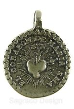 IMMACULATE HEART / CHRIST BEARING HIS CROSS Medal, bronze from Mexican original