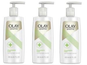 3 Olay Sensitive Fragrance Free Calming Liquid Cleanser (6.7 FL Oz Each) NEW