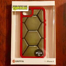 New! Griffin Red Ninja Turtles Apple iPhone 5/5S Protective Phone Case