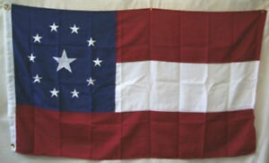 4x6 Embroidered 1st National Stars Bars 11 Middle 600D Nylon Flag 4'x6'