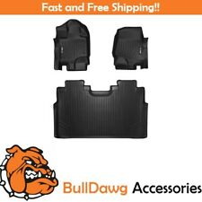 SMARTLINER Floor Mat for F-150 SuperCrew With Front Bucket Seats Black F150