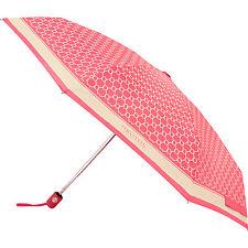 NEW Oroton Signature Umbrella Automatic Compact 24cm Small RRP $65 Pink