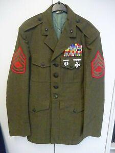 US Marine Corps Jacke Gunnery Original Sergeant Irak Afghanistan Silver Star usw