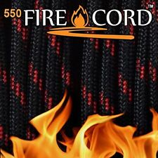 Fire Cord 550 Paracord Thin Red Line Waterproof Live Fire Gear New