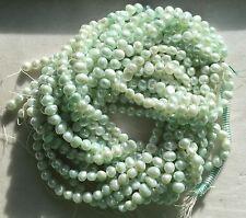 "16"" Strand 6x7 Natural Pale Aqua FRESHWATER PEARLS - Potato Pearls"