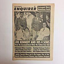 Vintage National Enquirer Tabloid December 1969 JFK RFK Joe Kennedy Jack Hawkins