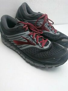 Brooks Mens Beast 18 Running Shoes Size 13 D Gray DAMAGED Hole Worn Collar a5