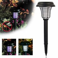 Led Solar Lights For Outdoor Garden Yard Uv Mosquito Bug Zapper Killer Lawn Lamp