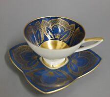 Mokkatasse Espressotasse + UT Alka Kunst mit Gold Ornamenten und Innenvergoldung