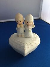 Precious Moments Enesco 1981 E - 7167. The Lord Bless You And Keep You. Trinket
