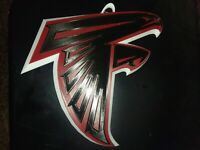 """3D PRINTED NFL Atlanta Falcons 3D Graphics Logo Wall Sign Plague 11""""×12"""" Dia"""
