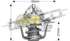 DAYCO Thermostat FOR Daihatsu F50 11/1978-5/1982 2.5L Diesel DL