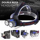 10000 Lumens 2X XML T6 LED Headlamp Headlight Flashlight AAA/AA/18650 Head Torch