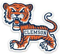 Vintage Clemson Tiger Mascot Custom die cut MAGNET College
