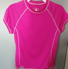 Girls Pink OP Polyester Shirt Size L 10-12 Chest 32 In Length 20 in