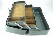 "NICE Vintage Teal 16"" SIMONSEN Cantilever 2 Tray Fishing Tackle Tool Box"