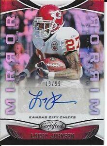 Larry Johnson Kansas City Chiefs 2019 Certified Mirror Autographed Card # 19/99