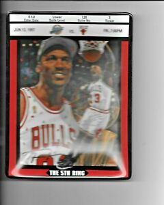1998 Upper Deck Bradford Exchange Michael Jordan Ticket to Greatness 8th Issue