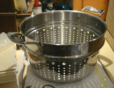 "10"" All-Clad Collander Pasta Steamer Insert For Stock Pot"