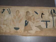 Vintage Large Antique  20s Art Deco Egyptian Revival King Tut Quilt Tapestries