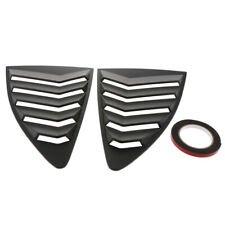 2X Side Window ABS Louvers Scoop Cover Vent Black For Toyota 86 Subaru BRZ