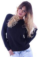 Markenlose taillenlange Damen-Pullover & -Strickware mit Carmen-Label