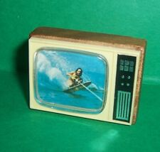 VINTAGE 1970's LUNDBY BARTON DOLLS HOUSE RETRO TV