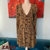 Zara Women Snake print dress Size M Medium