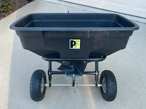 Precise Fit (Agri-Fab) 100lb Poly Tow Behind Broadcast Spreader - Ex. Cond