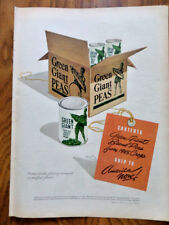 1945 Red Cross Shoes Ad  1945 Green Gian Peas Ad