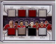 HULL MIKITA HALL BELFOUR ROENICK CHELIOS 14/15 Leaf In The Game Used 8X Jersey
