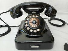 ALTES BAKELIT TELEFON + 1960 + 60 Jahre + W 48 + SIEMENS & HALSKE + volle Funkt.