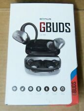 GENIUS GBUDS WIRELESS BLUETOOTH HEADPHONES LE-702 IPX5 WATERPROOF GRAY uns nib