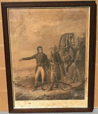 """1802 Engraving """"Napolean Bonaparte"""" at the Battle of Marengo French Revolution"""